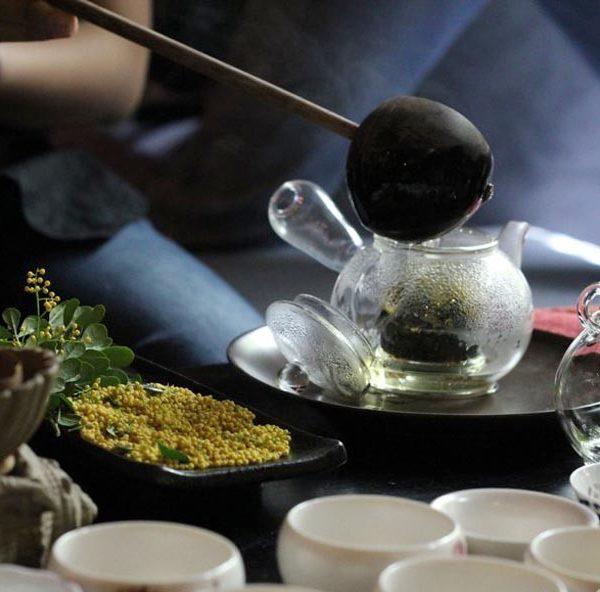 trà mạn ướp hoa ngâu