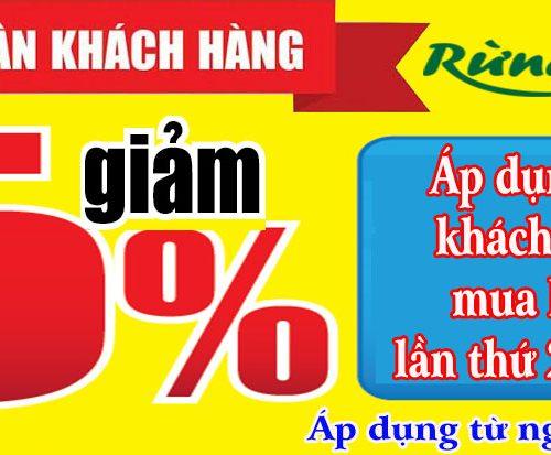 khuyến mại giảm giá 5%