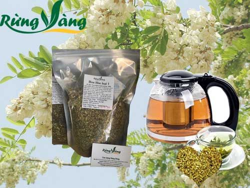 hoa hòe pha trà thơm ngon