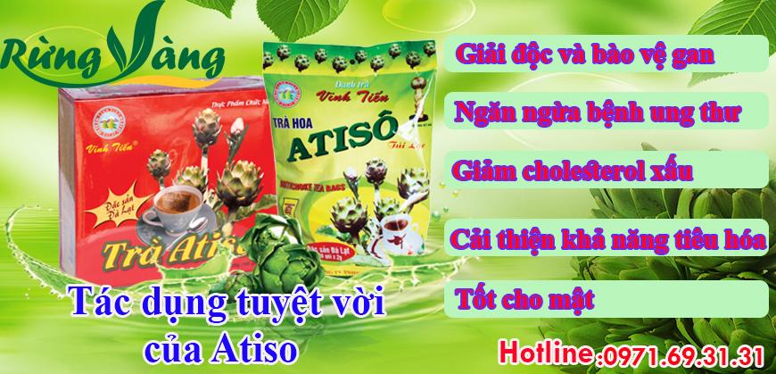 tác dụng của trà Atiso