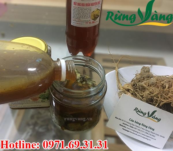tam thất và mật ong chất lượng cao