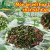 các món ăn bổ dưỡng với hoa tam thất tươi