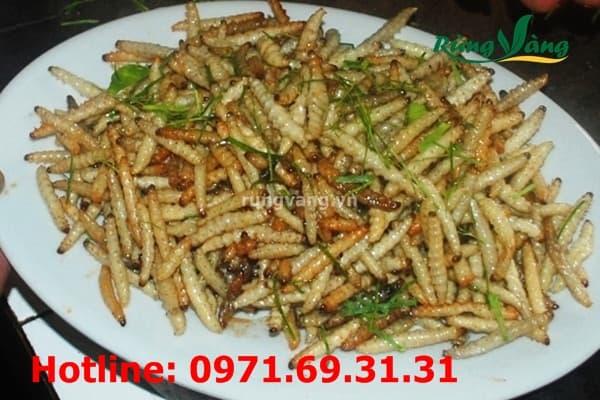 các món ăn với sâu chít Điện Biên