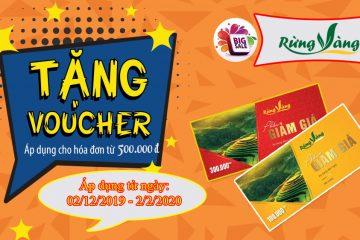 [KHUYẾN MẠI RỪNG VÀNG] Tri ân cuối năm tặng Voucher tới 300k khi mua hàng!